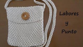 getlinkyoutube.com-Aprende a tejer un bolso pequeño de colgar en dos agujas: Parte 1 de 3