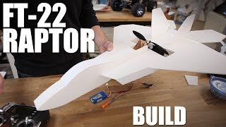 getlinkyoutube.com-Flite Test - FT-22 Raptor - BUILD