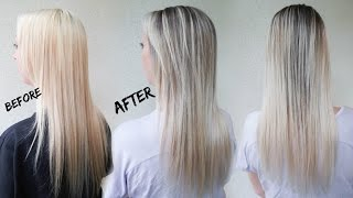 getlinkyoutube.com-How to Reverse Balayage A.K.A. Smudge Root | Ft. Redken Blur Brush