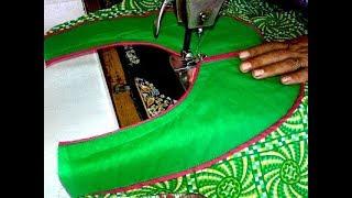getlinkyoutube.com-Kurti neck cutting and stitching video in hindi.