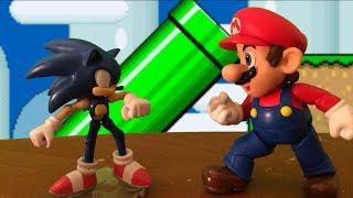 getlinkyoutube.com-Mario VS Sonic Stop Motion REMATCH