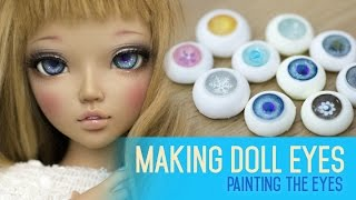 getlinkyoutube.com-Eye making for dolls - Painting the iris and cornea