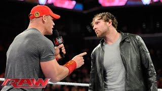 getlinkyoutube.com-Dean Ambrose and John Cena have a heated war of words: Raw, Oct. 6, 2014