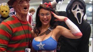 getlinkyoutube.com-Horror Movie Villains Invade NYC! (Epic Halloween Flash Mob!)