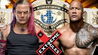 Jeff Hardy vs The Rock for Championship
