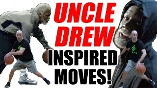 CRAZY UNCLE DREW Combos! MOVIE 🎞  Inspired! Kyrie Irving Ankle Breakers: Basketball Moves