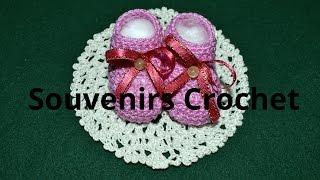 getlinkyoutube.com-Como hacer Souvenirs Escarpines en tejido crochet tutorial paso a paso.