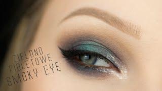 getlinkyoutube.com-Zielono Fioletowe SMOKY Eye ** na Studniówkę / Karnawał ** TUTORIAL