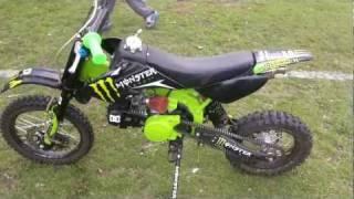 Orion 125cc pit bike test ride after rebuild. monster energy. HD