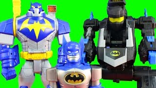 getlinkyoutube.com-Batman Robot Wars With Imaginext Transforming Batbot And Mech Robot