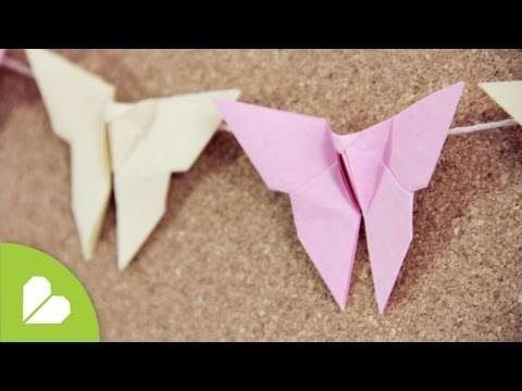 Como hacer Mariposa Origami: deco // Origami Butterfly