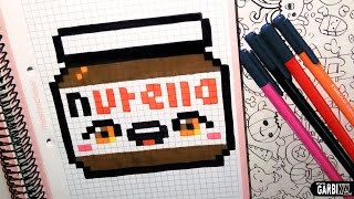 getlinkyoutube.com-Handmade Pixel Art - How To Draw a Kawaii Nutella by Garbi KW
