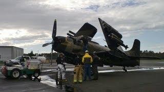 getlinkyoutube.com-Douglas A-1 Skyraider Emergency Deadstick Landing [ATC Audio/Heritage Flight]