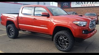 getlinkyoutube.com-2016 Toyota Tacoma Lifted Double Cab TRD Sport Manual with custom leather.
