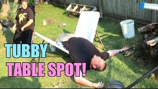 getlinkyoutube.com-FAT MAN SUBMISSION MATCH! Grim VS TubbyBulldozer Backyard Wrestling Action!