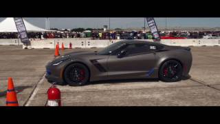 NEW WORLD RECORD- FASTEST STOCK C7Z IN THE STANDING 1-MILE at The April 2016 Texas Mile
