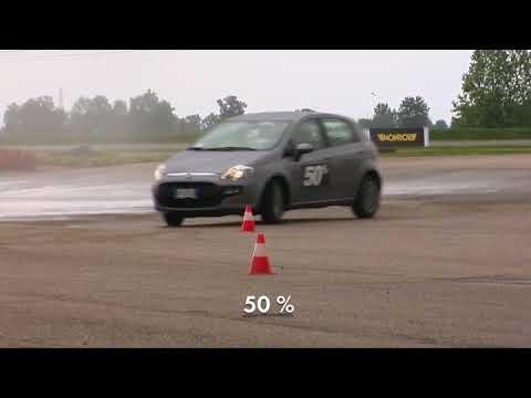 Тест MONROE 'Слалом мокрый асфальт». Влияние амортизаторов на управляемость авто на мокрой дороге