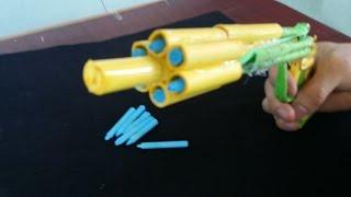 getlinkyoutube.com-Как сделать бумажный пистолет, который стреляет | 6 пуль | с триггером