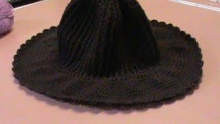 getlinkyoutube.com-Sombrero con ala ancha (con gancho o crochet) Parte 1.