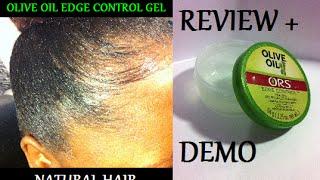getlinkyoutube.com-Review + Demo Olive Oil Edge Control Gel (On Natural Hair)