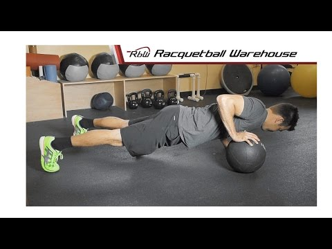 Racquetball Weight Training | Alternating Ball Pushups
