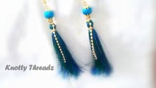 getlinkyoutube.com-How to make Silk Thread Tassel Earrings !!