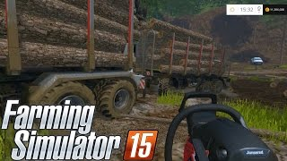 getlinkyoutube.com-Farming simulator 2015 - Desmatamento parte 1, Transporte fail!!!!
