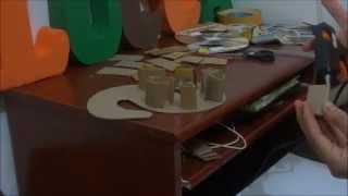 getlinkyoutube.com-Letra S em 3D de papelão e EVA - Niver Luccas Safari