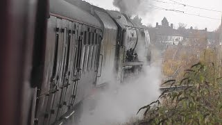 getlinkyoutube.com-46233 Duchess of Sutherland | London King's Cross to Lincoln & Return 1/12/16