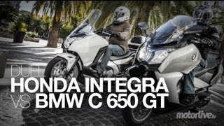getlinkyoutube.com-Honda INTEGRA vs BMW C650 GT : DUEL de Maxiscooter GT