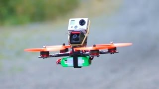 DIY Racing Drone Flight Test - Crashed!