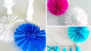 getlinkyoutube.com-DIY: Papierrosetten für Party-Deko selber machen | Deko Kitchen