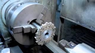getlinkyoutube.com-Почему фреза? или Как обрабатывать пластины на токарном станке 1к62