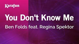 getlinkyoutube.com-Karaoke You Don't Know Me - Ben Folds *