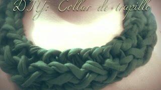 getlinkyoutube.com-DIY: Collar de trapillo