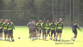 getlinkyoutube.com-Arsenal Training pre Arsenal vs Ludogorets