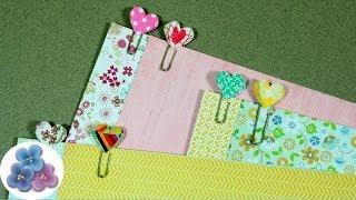 getlinkyoutube.com-HTM Como Hacer Clips de Corazones *How to Heart Clip* Scrapbook Crafts Papercrafts Pintura Facil