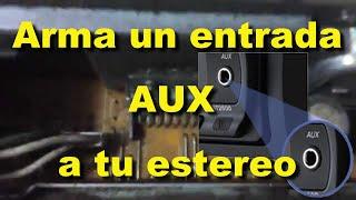 getlinkyoutube.com-Como armar una Entrada AUX ( auxiliar ) para conectar un mp3, ipod y celular al estereo del auto