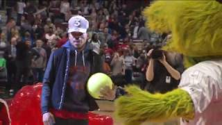 Chance the Rapper Throws Dodgeballs at Mascots | 12.02.16