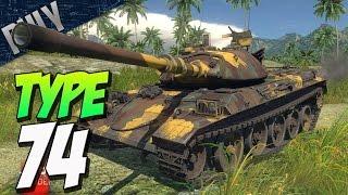 getlinkyoutube.com-HYDRAULIC SUSPENSION - TYPE 74 Japanese Tank (War Thunder Devblog)