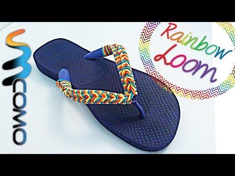Rainbow Loom - Decorar Chinelo de Praia com Elásticos
