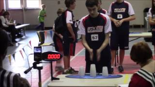 getlinkyoutube.com-William Orrell Sport Stacking 5.000! New Cycle World Record!