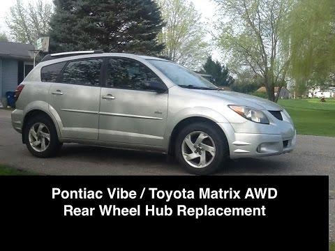 Pontiac Vibe/Toyota Matrix Rear Wheel Bearing/Hub Replacement