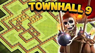 getlinkyoutube.com-Clash of Clans - EPIC TOWN HALL 9 WAR/TROPHY BASE! TH9 Awesome Defensive Base!!