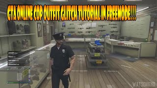 GTA 5 - Cop Outfit With Cop Hat Online Glitch Tutorial (GTA Online Cop Outfit Glitch)