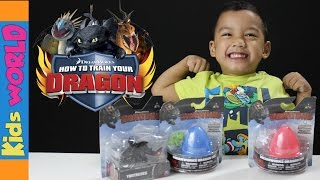 getlinkyoutube.com-How to Train your Dragon SURPRISE EGGs and Toys | Dreamworks | Kids WORLD | Charlie