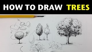 getlinkyoutube.com-How to Draw Trees | Pen & Ink Drawing Tutorials