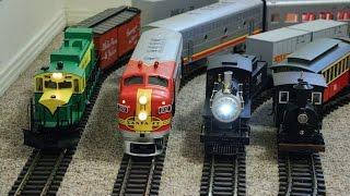 getlinkyoutube.com-Big model trains running inside my small house