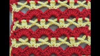 getlinkyoutube.com-Crochet : Punto Combinado # 5,  en dos colores