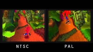 getlinkyoutube.com-PAL vs. NTSC! - Crash Bandicoot (PSX)